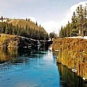 Yukon River And Miles Canyon - Whitehorse Art Print