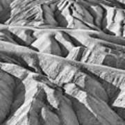 Zabriske Point Death Valley  Bw6398 Art Print