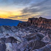 Zabriskie Point Sunset Art Print