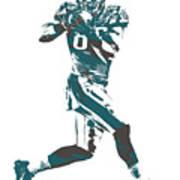 Zach Ertz Philadelphia Eagles Pixel Art 1 Art Print