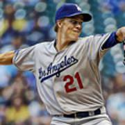 Zack Greinke Los Angeles Dodgers Art Print