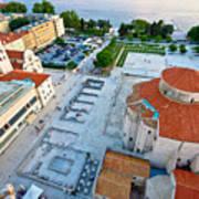 Zadar Forum Square Ancient Architecture Aerial View Art Print