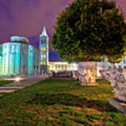 Zadar Historic Square Evening View Art Print