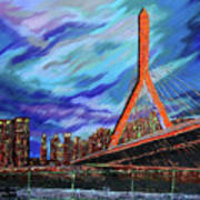 Zakim Bridge - Boston Art Print