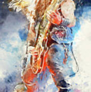 Zakk Wylde - Watercolor 09 Art Print