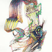 Zappa Baton Art Print