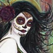 Zatina Day Of The Dead Art Print