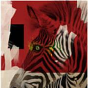 Zebra 4.0 Art Print