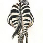 Zebra Back Art Print