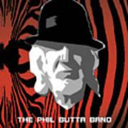Zebra Blues Man Art Print
