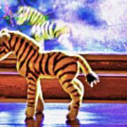 Zebra Dreaming Art Print