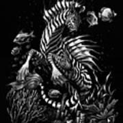 Zebra Hippocampus Art Print