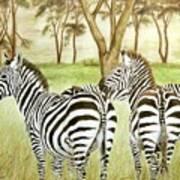Zebra Pals Art Print