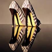 Zebra Print Stiletto Art Print