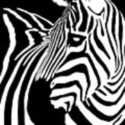 Zebra Works Art Print