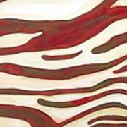 Zebra Zone - Color On White Art Print