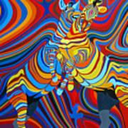 Zebradelic Art Print