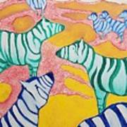 Zebras On The Plain Art Print