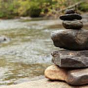Zen At The Water Art Print