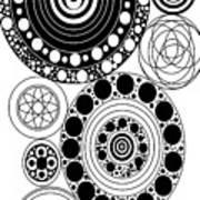 Zen Circles Design Art Print
