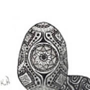Zen Egg Art Print