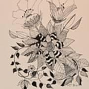 Zentangle 16-02 Art Print