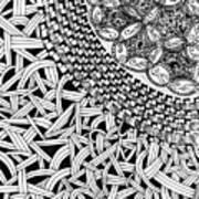 Zentangle Inspired Design Art Print