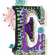 Zentangle Inspired E #4 Art Print