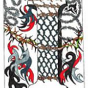 Zentangle Inspired I #1 Art Print