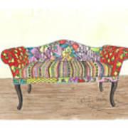 Zentangle Sofa Art Print