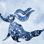 Zero-blue Art Print