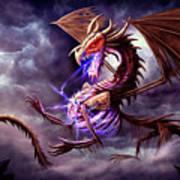 Zerolios - Bone Lighting Dragon Art Print