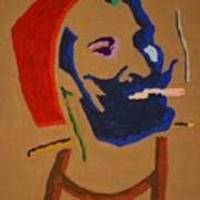 Brown Zig Zag Man Art Print