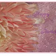 Chrysanthemum Birthday Art Print