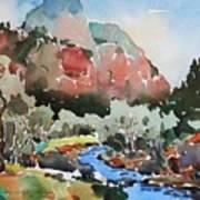 Zion Blue Stream Art Print