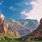 Zion Cliffs Art Print