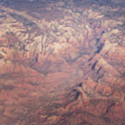 Zion From The Air Art Print