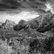 Zion In Black And White Art Print
