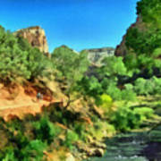 Zion In The Morning Art Print
