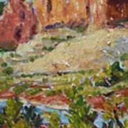 Zion Mountain Cliff Art Print