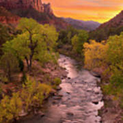 Zion National Park The Watchman Art Print