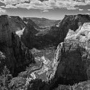 Zion Valley From Observation Point Art Print