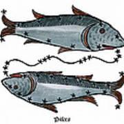 Zodiac: Pisces, 1482 Art Print