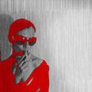 Zoe In Red Art Print by Naxart Studio