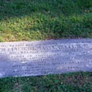 Zollicoffer's Grave Art Print
