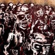 Zombie Army Art Print