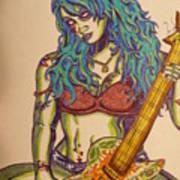 Zombie Guitar Art Print