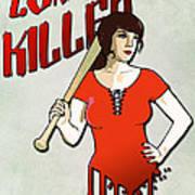 Zombie Killer Art Print by Nicklas Gustafsson