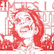 Zombie Music Art Print