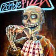 Zombie Pizza Art Print